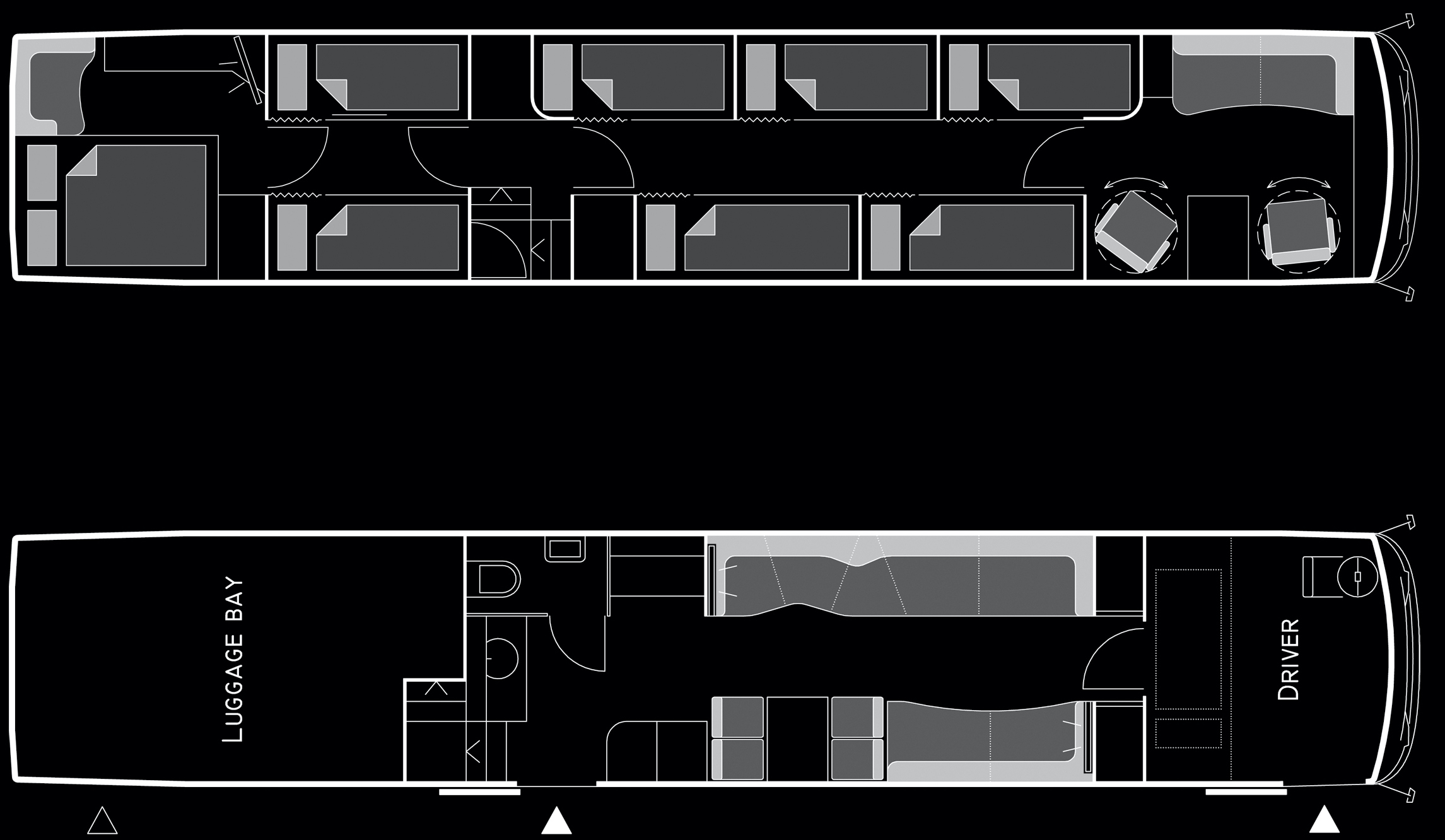 Beat the Street - Setra Doubledeckers 14 Bunks Floor Plan