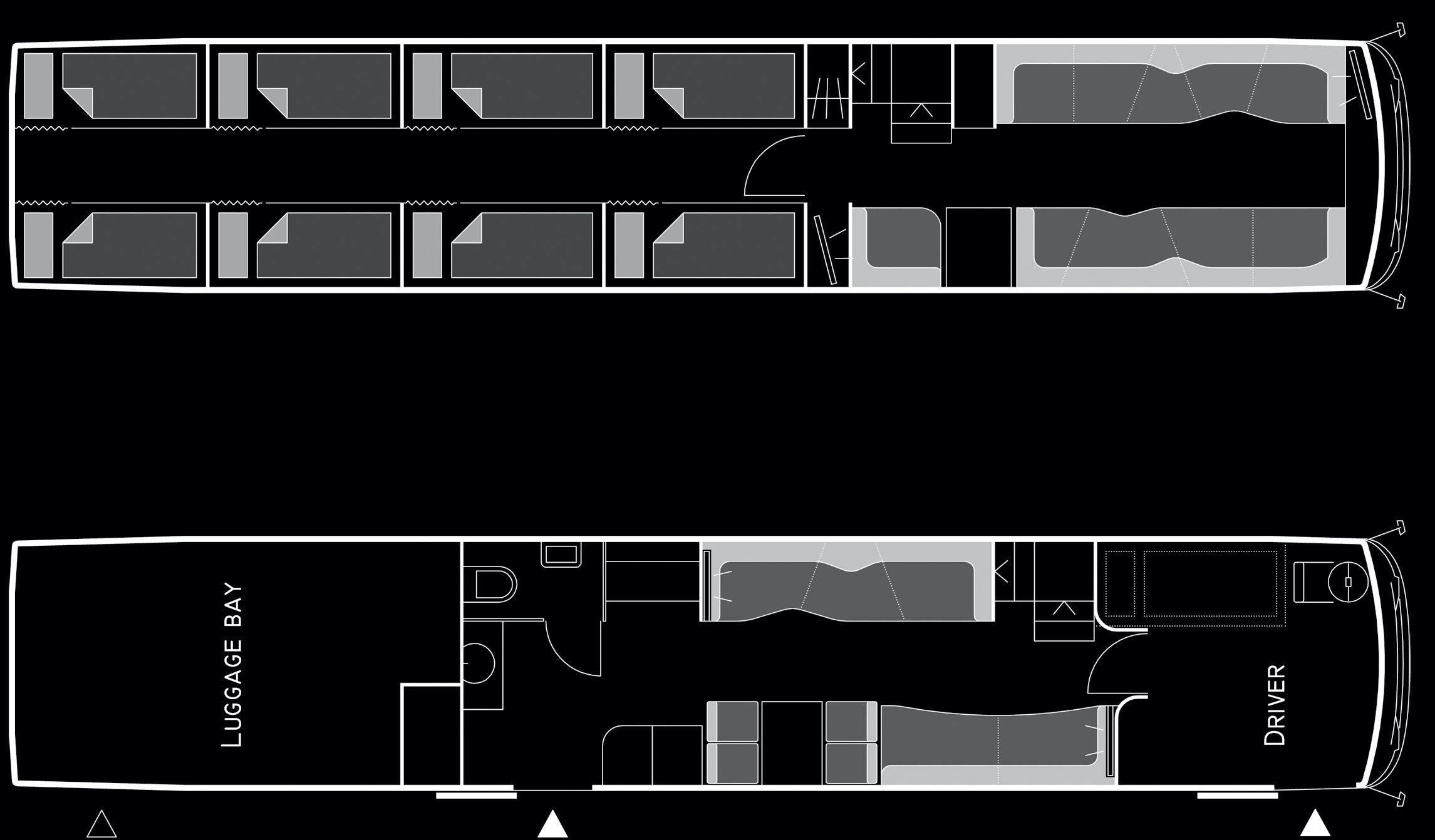 Beat the Street - Setra Doubledeckers 16 Bunks Floor Plan