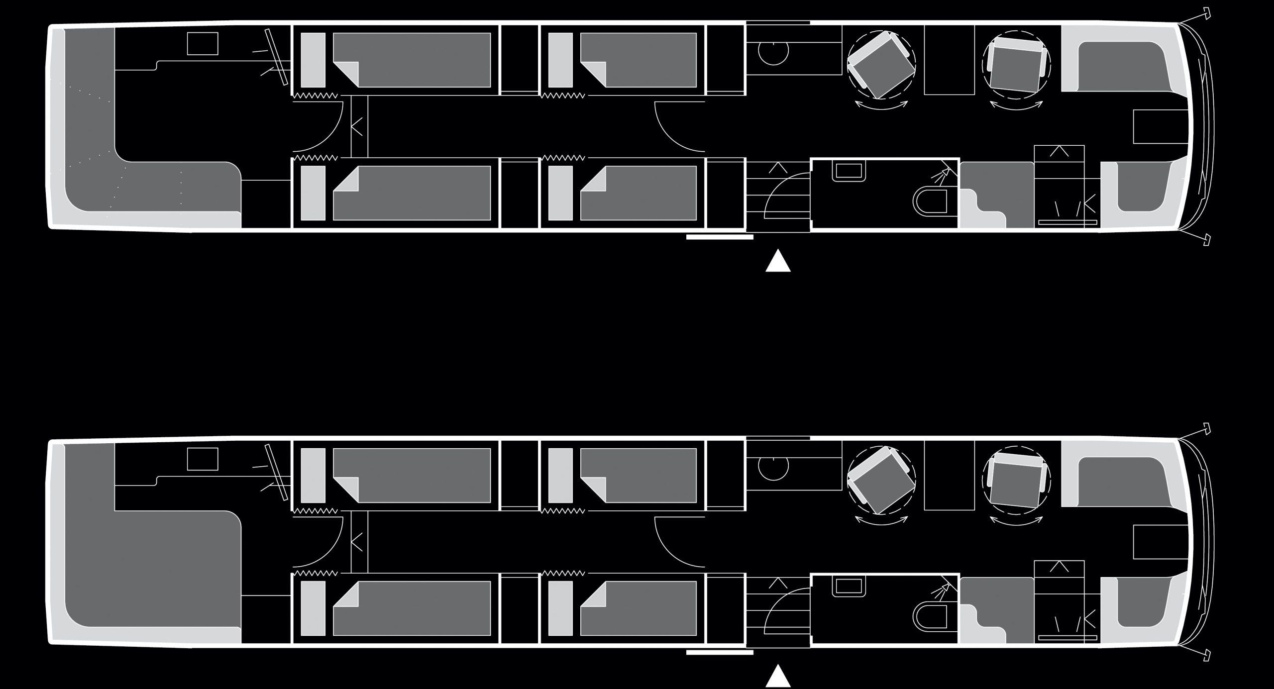 Beat the Street - VanHool Superhighdeckers 12 Bunks Floor Plan